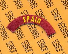 US Army Transportation Command SPAIN tab arc patch