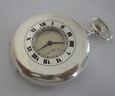 BEAUTIFUL 0.925 SILVER PAUL DITISHEIM DEMI HUNTER SWISS POCKET WATCH FROM Ca1920