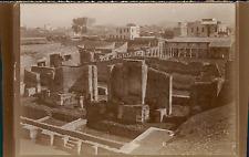 Italie, Pompéi, les Ruines, Archéologie  Vintage citrate print, Tirage citra
