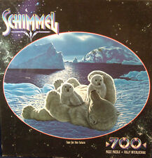 """New Sealed Schimmel 700 Pc Jigsaw Puzzle """"Two for the Future"""" Polar Bear Cubs"""