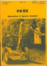 Mcconnel PA92 hedgetrimmer hedgecutter opérateurs et manuel de pièces