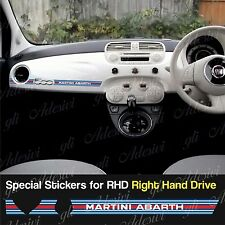 Stickers Fiat 500 Martini Racing dashboard Abarth for Right Hand Drive RHD