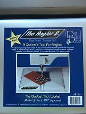 """""""The Angler 2"""" A Quilter's Ruler Tool 7 3/4"""" Squares by Pam Bono Designs"""