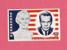 Raymond Massey Abraham Lincoln Movie Film Star 1947 Hollywood Sticker Stamp