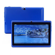 "Blue 7"" Inch 8GB Android 4.4 1.3GHz Quad Core Tablet PC Dual Camera Touch Screen"