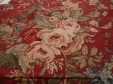 CHAPS RALPH LAUREN SUMMERTON PRINT KING SHAMS RED FLORAL PAIR PRETTY HEAVY