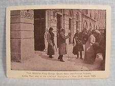 King George & Queen Mary at  Hotel Nettuno PISA ITALY  Postcard 1925