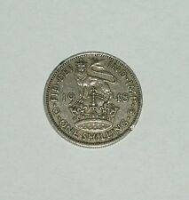 BRITISH ONE SHILLING COIN - (1/-) - CIRCULATED - c1948 - ENGLISH VERSION