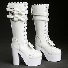 [wamami] 49# White Bow 1/4 BJD MSD DZ Dollfie Synthetic Leather Boots/Shoes