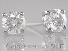 2ct Certificated D IF Exc Brilliant Cut Diamond Solitaire Platinum Stud Earrings