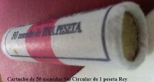 Juan Carlos I. Año 1977. Cartucho Original 50 piezas de 1 peseta Sin Circular.