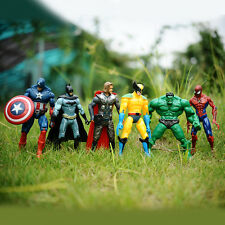 6pcs Marvel The Avengers Super Hero Hulk Spiderman Figure Doll Action Kids Toy