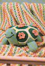 TURTLE TIME PILLOW STUFF ANIMAL TOY DIGEST SIZE CROCHET PATTERN INSTRUCTIONS