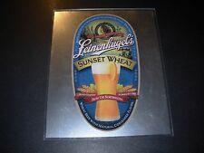LEINENKUGELS Sunset Wheat MIRROR SIGN tacker craft beer brewery brewing