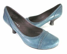 BIVIEL WOMEN'S BV2726 PUMP MALAGA BLUE LEATHER EUR SIZE 37 US SZ 7 MEDIUM
