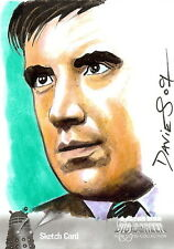 Dr Doctor Who Big Screen Additions Mono Sketch Card by Jason Davies /11
