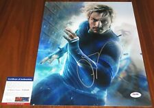 Cool Aaron Taylor-Johnson Signed 11x14 Avengers Ultron Quicksilver PSA/DNA