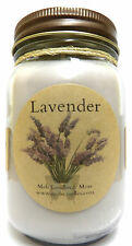 LAVENDER 16oz Country Jar All Natural SOY Candle Approximate Burn Time 144hrs