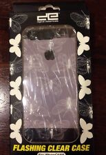 NEW Flashing Clear Case with Butterfly Theme. iPhone 5/5s