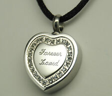 CREMATION URN NECKLACE HEART CREMATION JEWELRY FOREVER LOVED MEMORIAL PENDANT