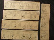 1935-39 HENRY by Carl Anderson Daily Strip LOT of 17 VG & 17 Hal Hopper Sparling