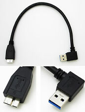 micro USB 3.0 type A to B left angle USB hard drive hdd cable 25cm (right side)