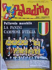 RIVISTA IL PALADINO DEI RAGAZZI 3-1970 PANINI MODENA PALLAVOLO CAMPIONE