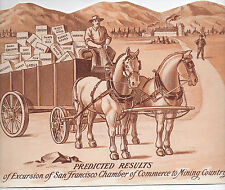 1890s Western Die Cut Sign of San Francisco Chamber of Commerce to Mining Region