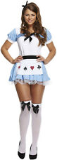 Women Alice In Wonderland Ladies Adult Fancy Dress Costume Fairytale Outfit Girl