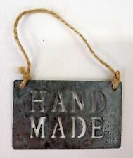 Metal 'Handmade' Sign - East of India Hanging Decoration - Craft Stall Shop Gift
