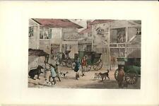Stampa antica AIA DI FATTORIA nella CAMPAGNA INGLESE 1914 Old antique print