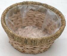 Seagrass & Reed Two Tone Round  Display Basket-Medium