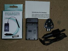 SONY PLAYSTATION PORTABLE PSP BATTERY CHARGER with MAINS & CAR CHARGING ADAPTERS