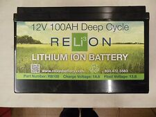 RELiON RB100 12V 100AH Deep Cycle Lithium Ion Battery