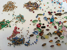 Vintage strass bijoux bijoux réparation déjouée broche Craft 525 value pack
