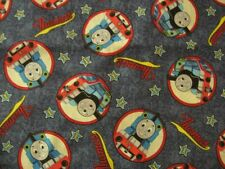 fabric material THOMAS THE TANK ENGINE & FRIENDS train 1yd 100% cotton quilting