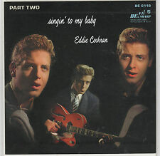 EDDIE COCHRAN - Singin' To My Baby Part 2 - REISSUE EP - CLEAR WAX - BE! SHARP
