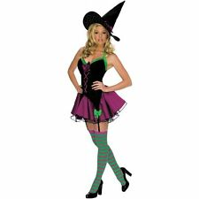 Secret Wishes Women's Playboy Sparkle Sexy Witch Costume Black Size XSmall New