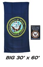 US U.S. NAVY USA OFFICIALLY LICENSED Flag Banner Big BATH POOL BEACH TOWEL WRAP