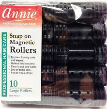 "ANNIE SNAP ON MAGNETIC ROLLERS 10 LARGE ROLLERS #1232 7/8"" DIAMETER"