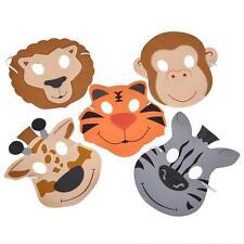 36 FOAM ZOO ANIMAL MASKS Kids Party Favor Lion Tiger Giraffe Monkey #AA18