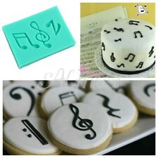 Music Notes Molding Silicone Fondant Mold Cake Sugarcraft Decor Baking
