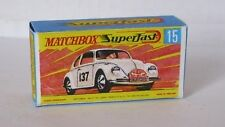 Repro Box Matchbox Superfast Nr.15 Volkswagen weiß