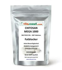 CHITOSAN MEGA 1000! 500 Tabletten - SB*: Fatblocker Diät Carb Blocker Low Fat
