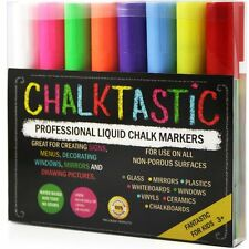 LIQUID CHALK MARKERS 8 Pack,Ideal for LED Writing Board, Glass Paint Marker Pens