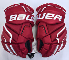 "BAUER VAPOR X100 HOCKEY GLOVES SENIOR 14"" RED NEW"