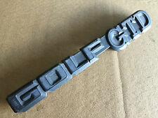 VW GOLF MK1 MK2 EARLY TYPE GTD DIESEL REAR GOLF GTD BADGE EMBLEM 191853687D  /2