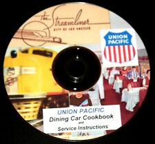 Union Pacific Railroad Dining Car Cookbook &Service Instructions,PDF file on DVD