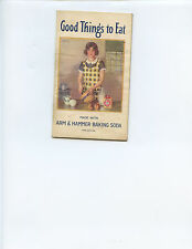 """1933 """"GOOD THINGS TO EAT"""" RECIPE BOOKLET BY ARM & HAMMER BAKING SODA (33 PAGES)"""