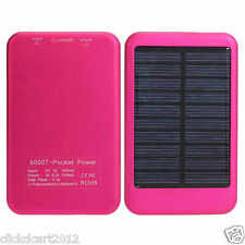 Solar Power Bank 6000mAh For iPhone Samsung Nokia HTC Sony iPad Tablet Phablet